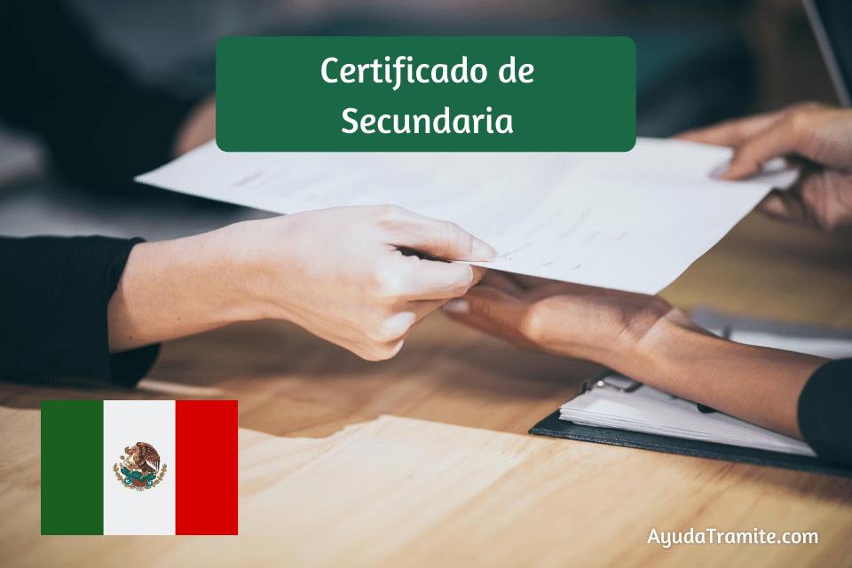 Certificado de secundaria México