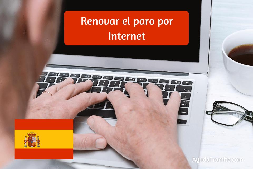 Renovar el paro por internet